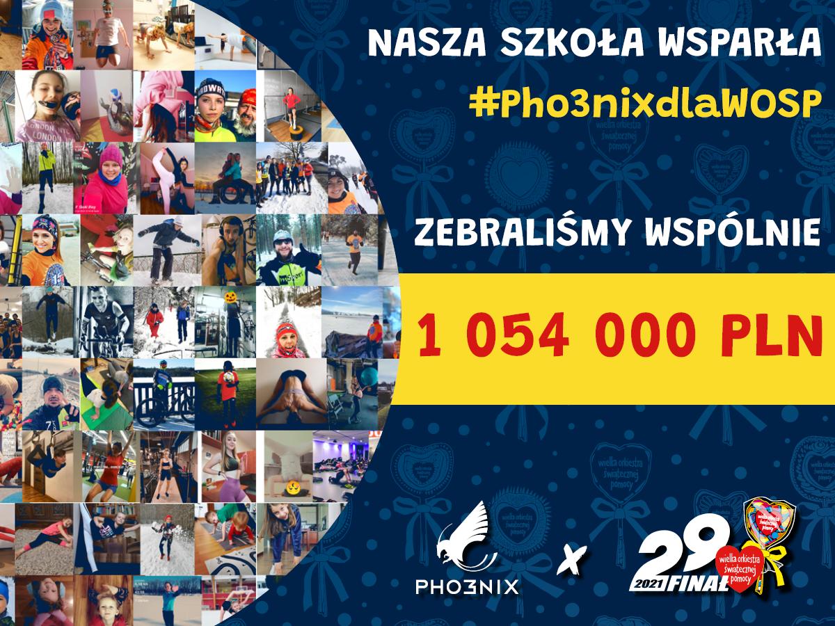 Nasza szkoła wsparła #Pho3nixdlaWOSP